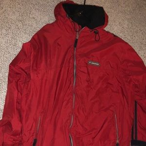 ABERCROMBIE AND FITCH HOODED FLEECE COAT